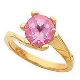 Swirl Ring Mounting for Round Gemstone Solitaire