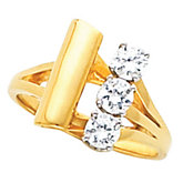 3-Stone Ring for Diamonds