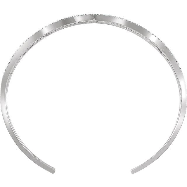 14K White 3/4 CTW Diamond Cuff 6