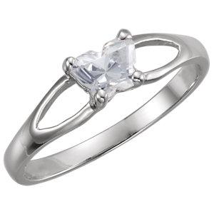 Sterling Silver Bfly® April AZ Birthstone Ring
