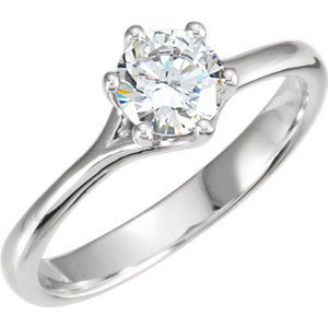 Diamond Solitaire Engagement Ring, Mounting or Band