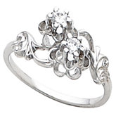 Antique-Style Flower Design Ring