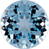 Round Chatham Created Aqua Blue Spinel