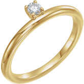 Stackable Solitaire Ring