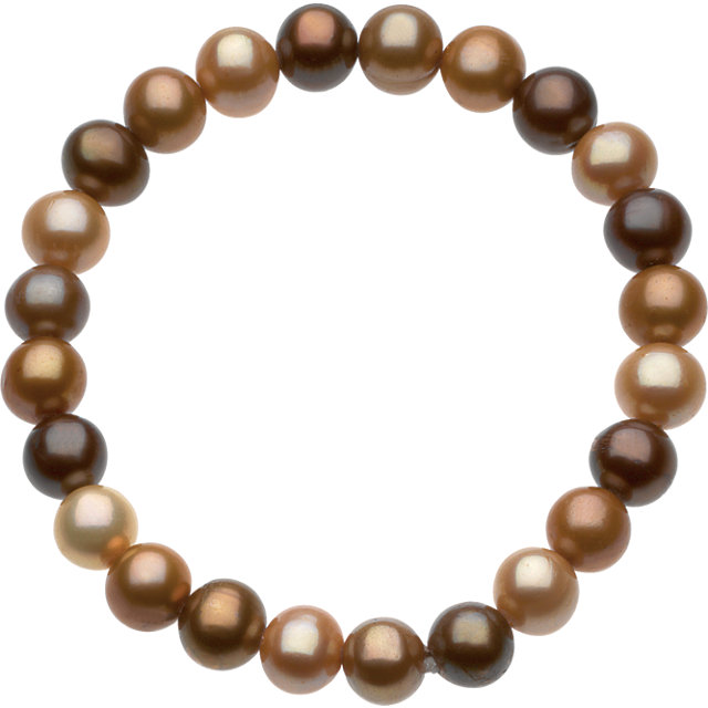 8-9mm Freshwater Cultured Dyed Chocolate Pearl 7