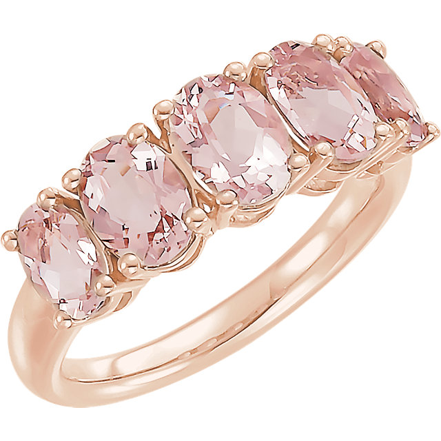 14kt Rose Morganite Ring