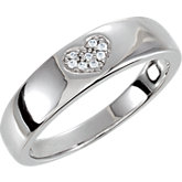 Cubic Zirconia Heart Shaped Design Band
