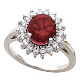 Fashion Ring for Round Gemstone