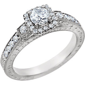 14kt White 1/4 ATW Diamond Band