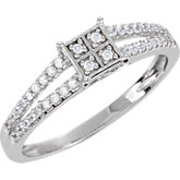 Cubic Zirconia Fashion Ring or Matching Band