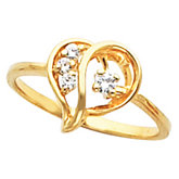 Heart-Shaped Ring for Diamonds