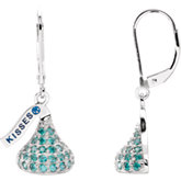 HERSHEY'S KISSES Flat Back Cubic Zirconia Birthstone Lever Back Earrings