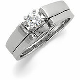 Cathedral Engagement Ring or Band Mounting