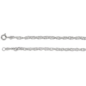 Sterling Silver Rope Chain 2.5mm