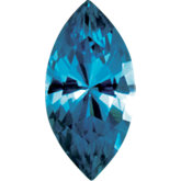 Marquise Imitation Blue Zircon