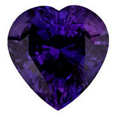 Heart Genuine Purple Sapphire (Black Box)