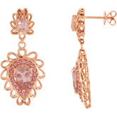 Genuine Morganite & Pink Tourmaline Earrings