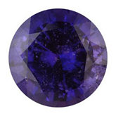 Round Genuine Purple Sapphire (Black Box)