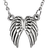 Tiny Posh Angel Wings Necklace