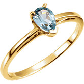 Scroll Setting® Design Ring Mounting for Pear Shape Gemstone Solitaire