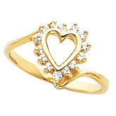 Heart Shaped Ring for Diamonds