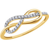 Diamond Infinity-Style Knot Ring
