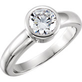 Round Bezel-Set Engagement Ring Mounting