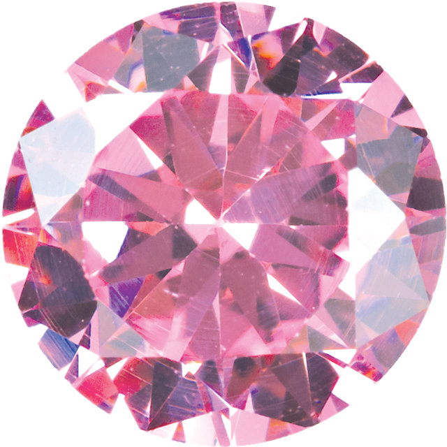 2.5mm Round Faceted Pink Cubic Zirconia