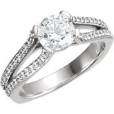 Euro Shank Engagement Ring Mounting or Band