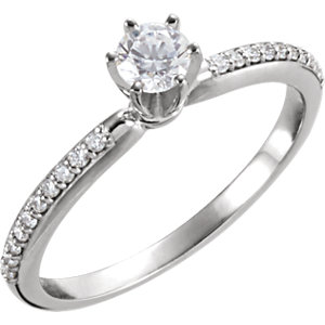 Accented Peg Shank, Semi-Mount or Diamond Engagement Ring