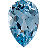 Pear Chatham Created Aqua Blue Spinel