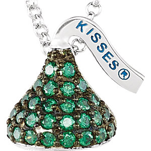 Sterling Silver May HERSHEYS KISSES Aubic Zirconia 16-1