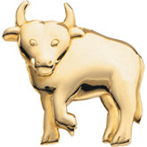 The Playful Bull Brooch