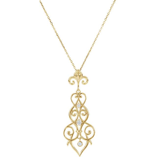 14K Yellow 1/6 CTW Diamond Decorative 18