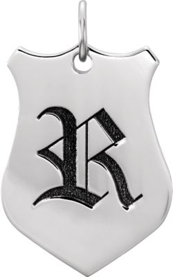 Engravable Shield Pendant