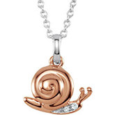Youth Snail Diamond Necklace