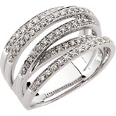 1/2 ct tw Overlapping Openwork Diamond Band