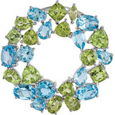 Genuine Swiss Blue Topaz & Peridot Pendant