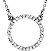 Diamond Petite Circle Design Necklace or Center Mounting