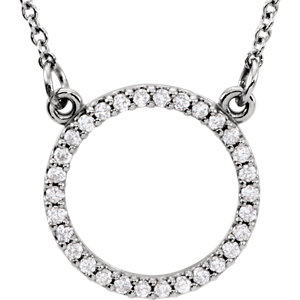Petite Circle Diamond Necklace or Center Mounting