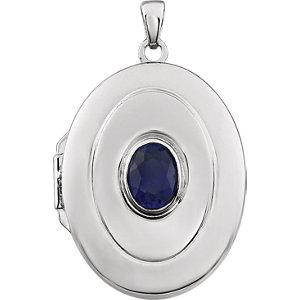 Oval Birthstone Locket