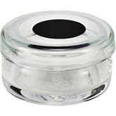 Glass Container with Black Marked Lid