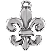 Fleur-de-Lis Design Dangle Component with Jump Ring
