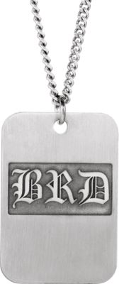 3-Letter Monogram Dog Tag Necklace