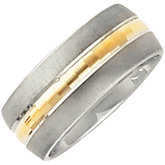 Two Tone 8mm Design Band
