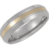 Titanium Band with 14kt Yellow Inlay