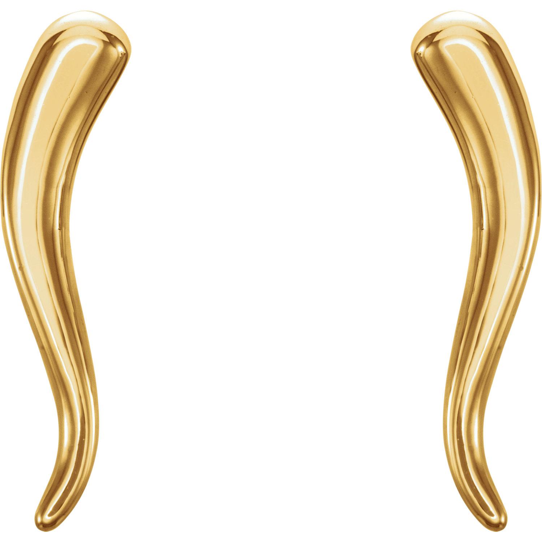 14kt Yellow Horn Earrings