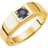 Men's Sapphire Solitaire Ring or Mounting