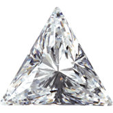 Triangle Lab Created White Cubic Zirconia
