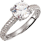 Pavé Accented Engagement Ring or Band